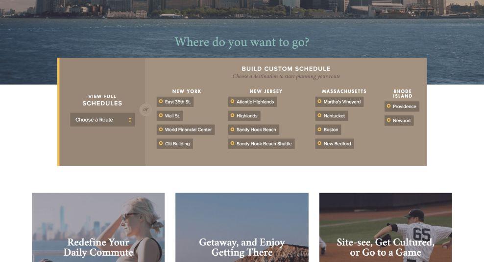 Seastreak Bar Website Design