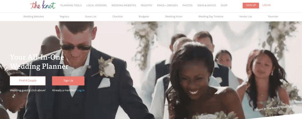 The Knot Menu Website Design