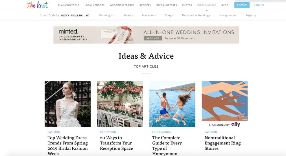 The Knot Gallery Website Design