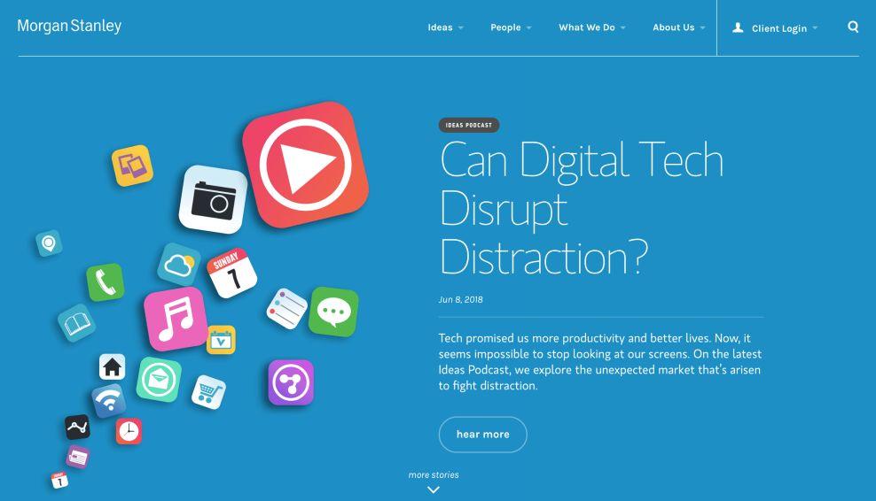 Morgan Stanley Home Page Website Design