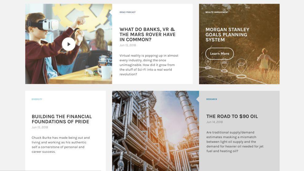 Morgan Stanley Blog Website Design
