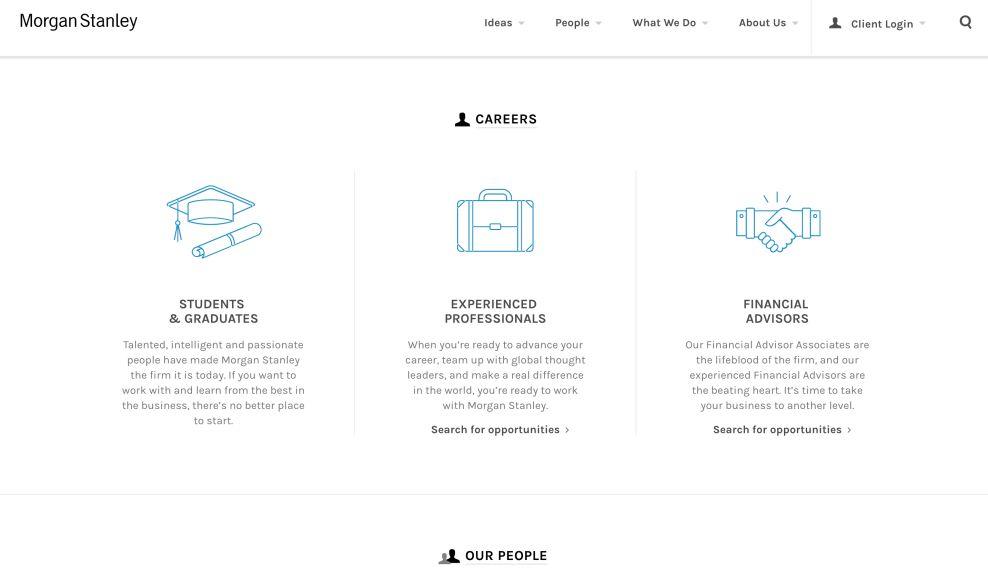 Morgan Stanley Icons Website Design