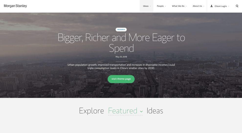 Morgan Stanley Top Website Design