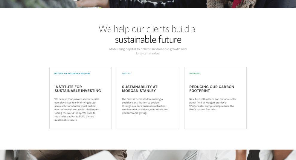Morgan Stanley Corporate Website Design
