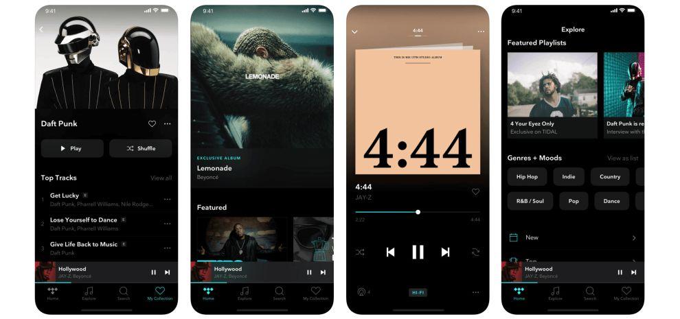 Tidal iOS App Design