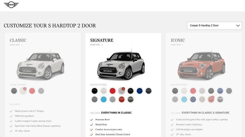 Mini Cooper DIY Website Design