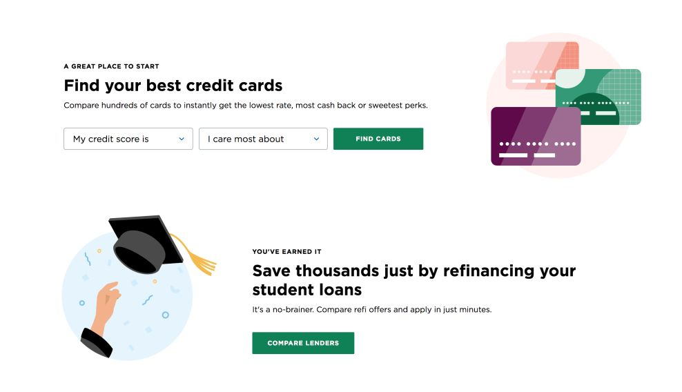NerdWallet's Creative Layout Makes It Easy For Users To Find The Financial Information They Crave (slide 4)