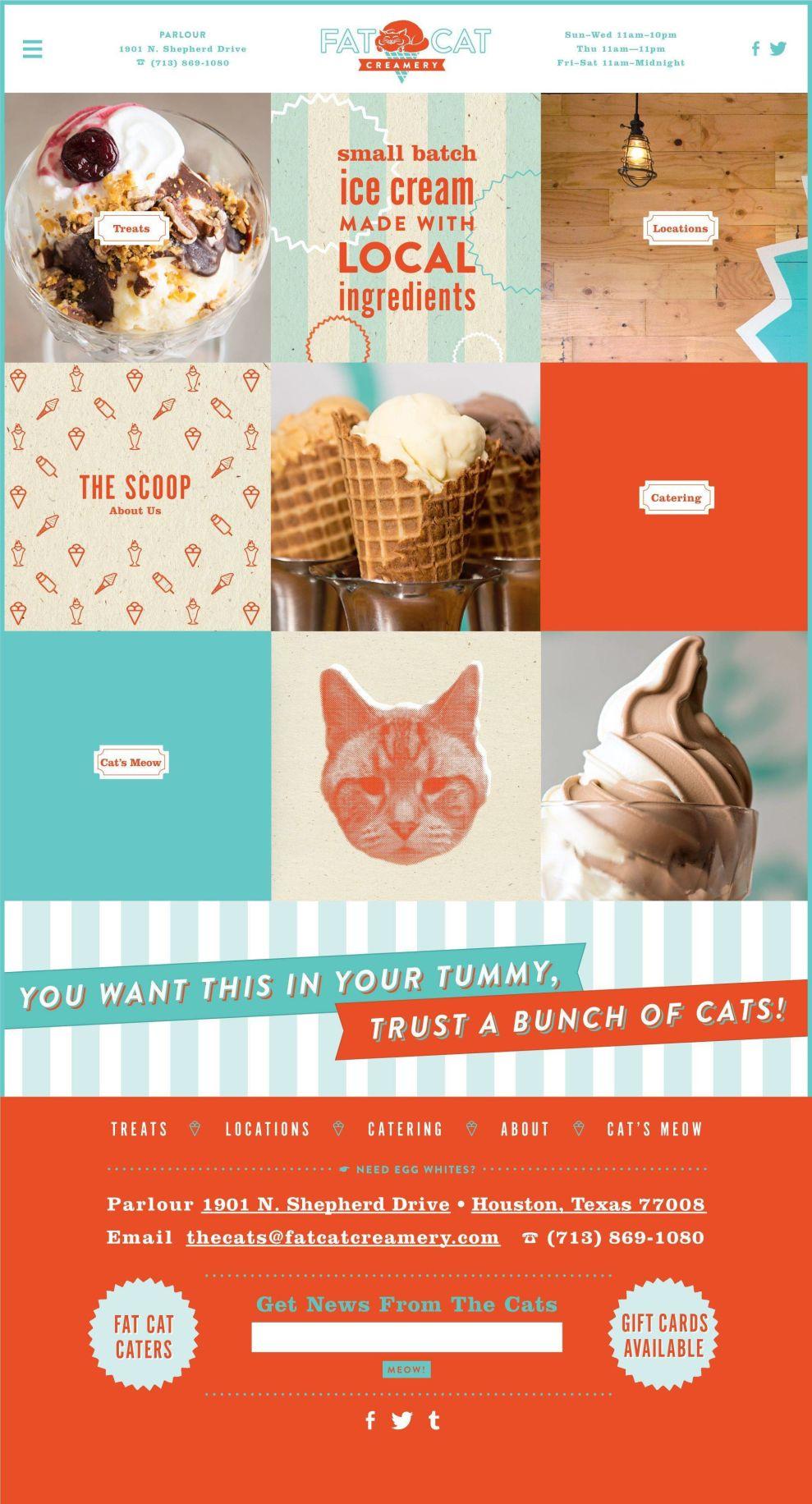 Fat Cat Creamery Iconic Print Design