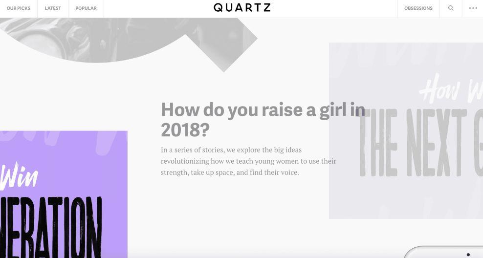 Quartz Exciting Website Design