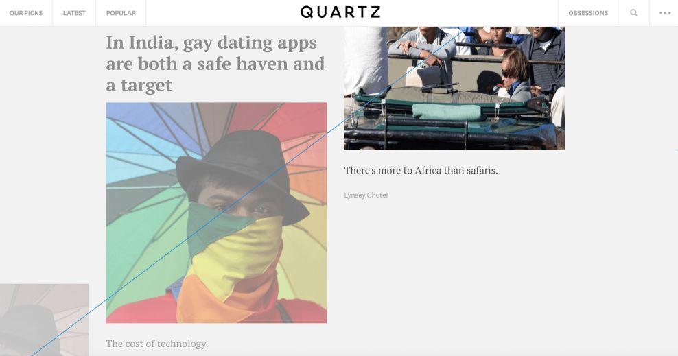 Quartz Cool Website Design