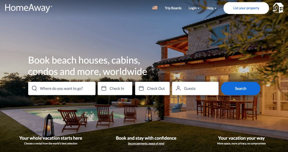 HomeAway Home Page Logo Design