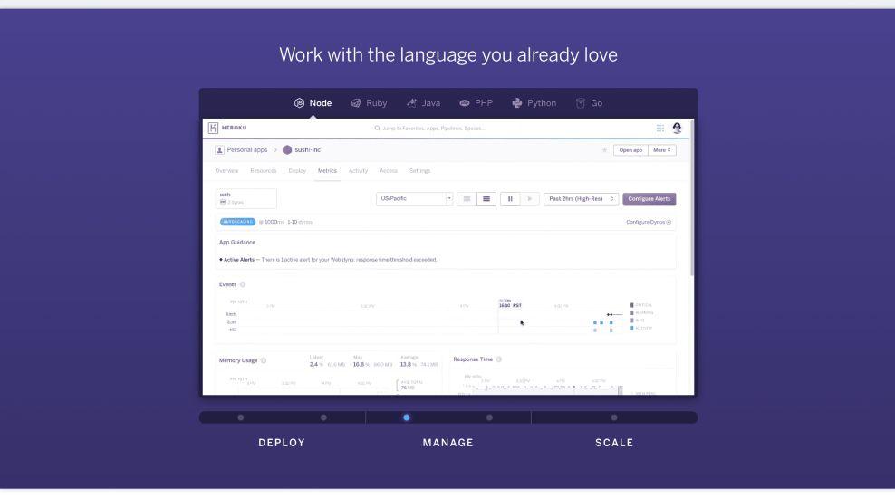 Heroku Innovative Website Design
