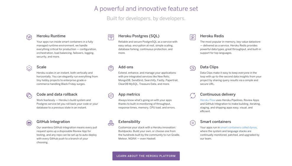 Heroku Creative Website Design