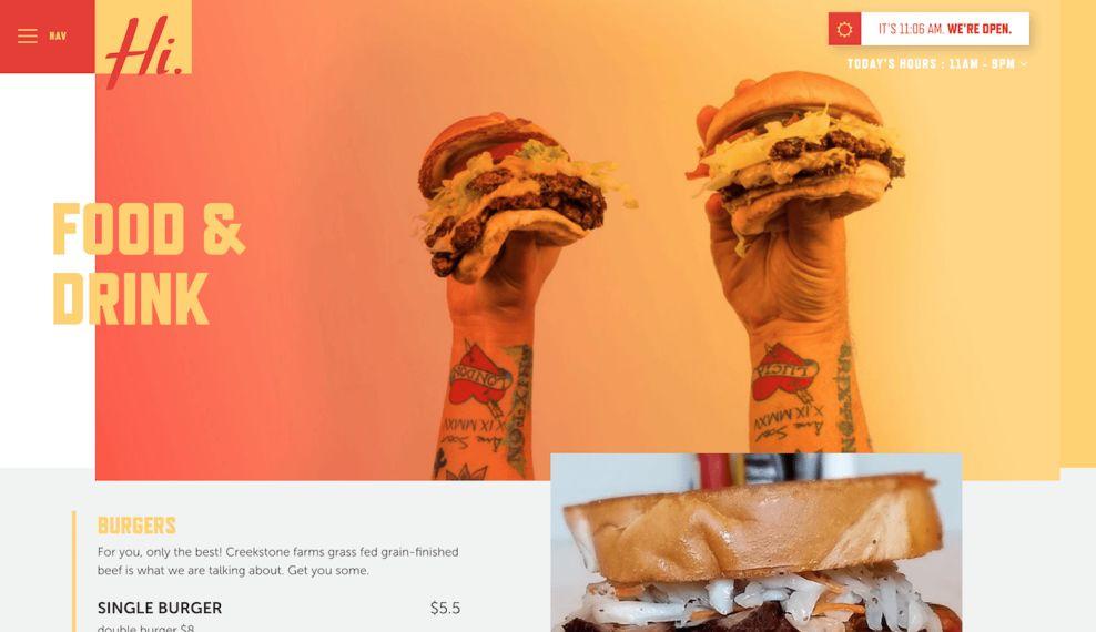 Hi-Pointe Drive In Bright Website Design