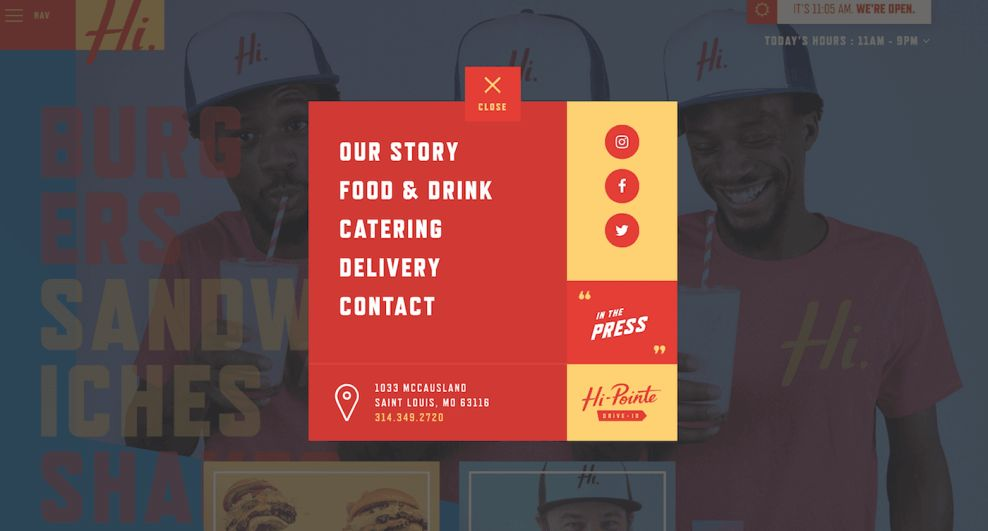 Hi-Pointe Drive In Bold Website Design