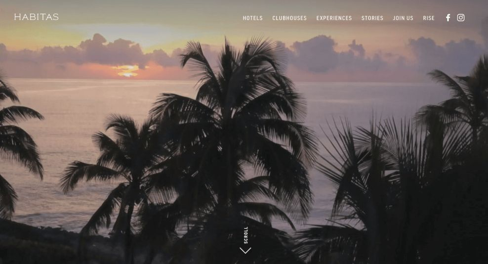 Habitas Sophisticated Website Design