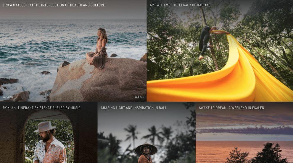 Habitas Image-Driven Website Design