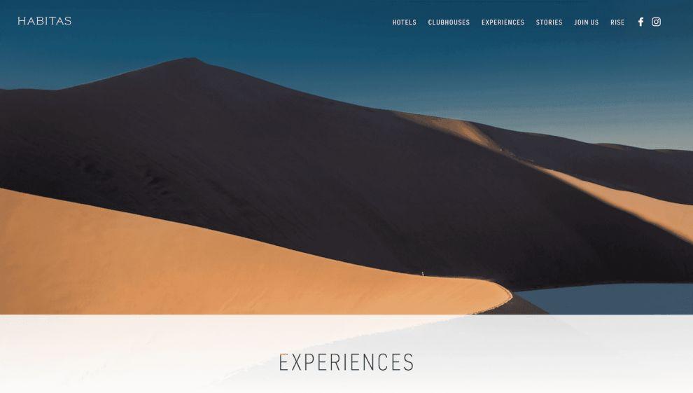 Habitas Cool Website Design