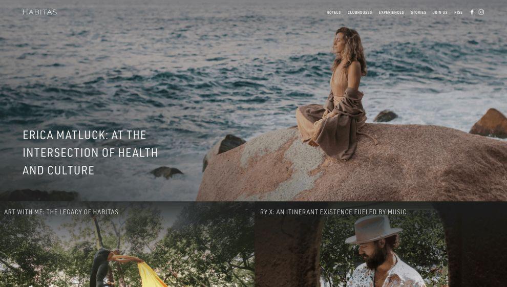 Habitas Stunning Website Design