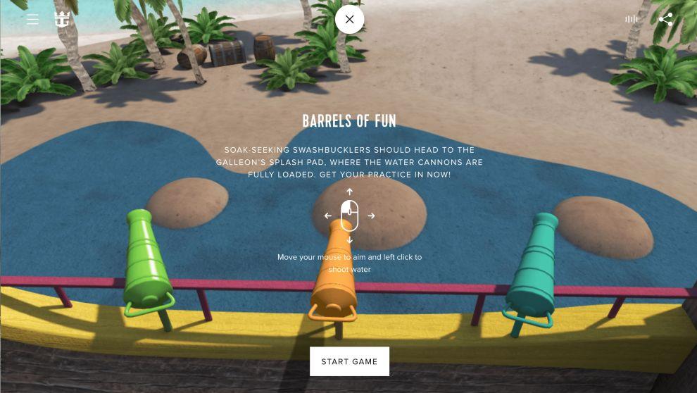 Royal Caribbean CocoCay Games Website Design
