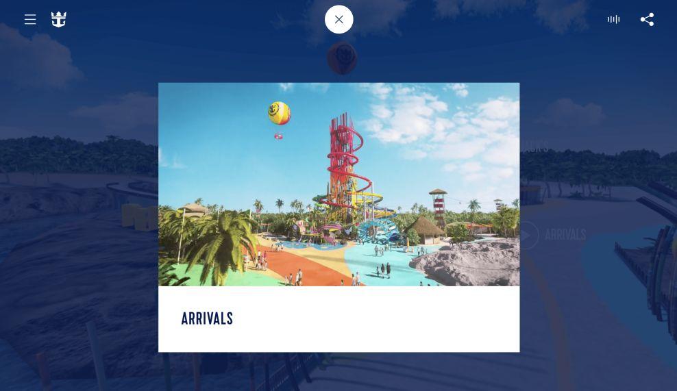 Royal Caribbean CocoCay Video Website Design