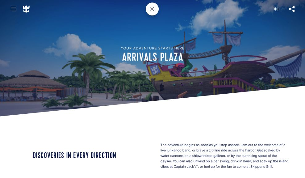 Royal Caribbean CocoCay Sophisticated Website Design