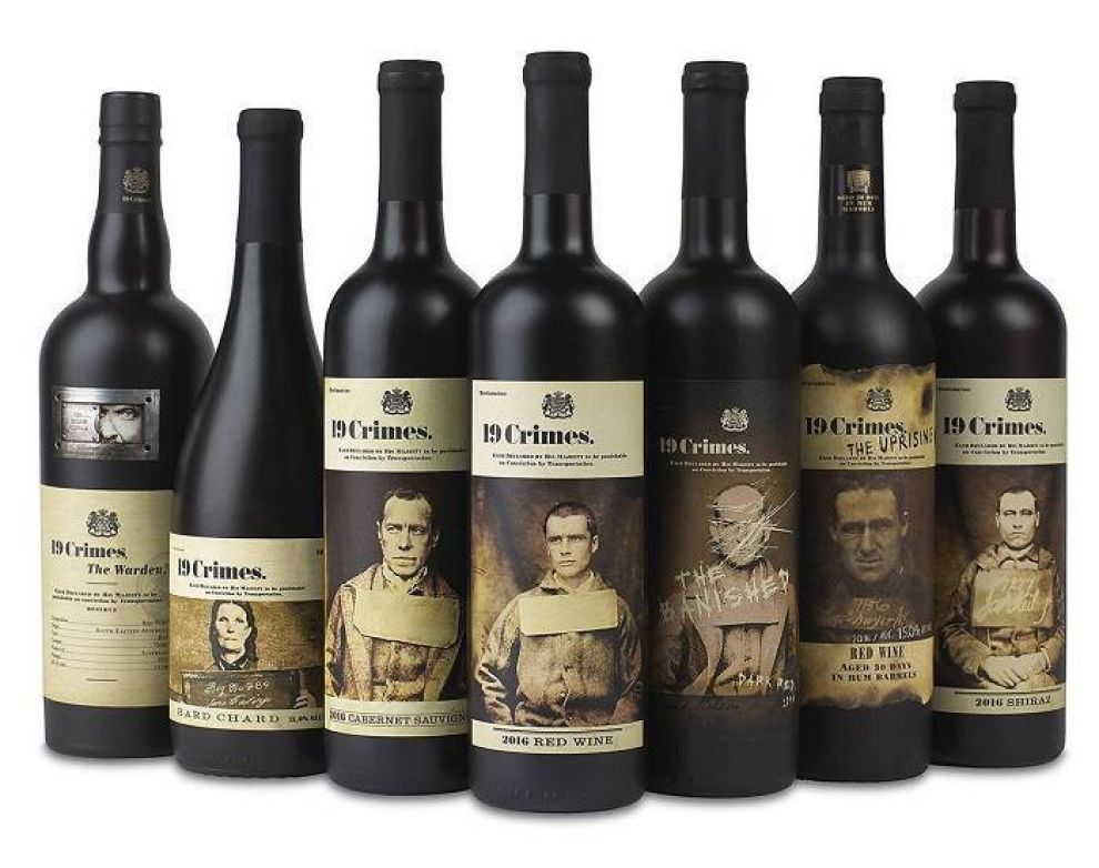 19 Crimes Wines Package Design