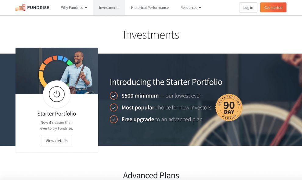 Fundrise Branding Web Design