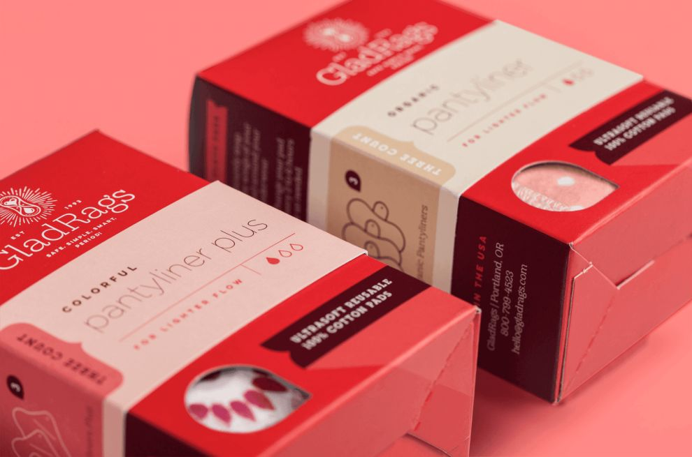 GladRags Bright Package Design
