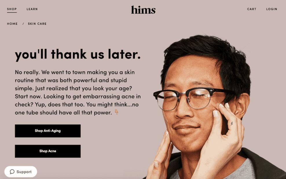 Hims Modern Website Design
