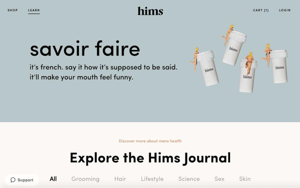 Hims Clean Website Design