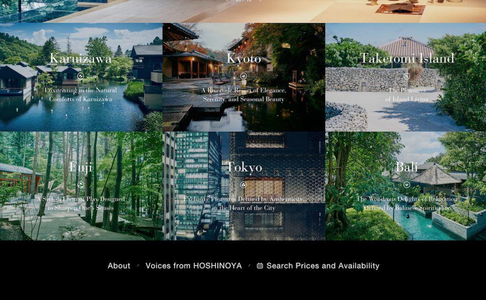 Hoshinoya Bold Website Design