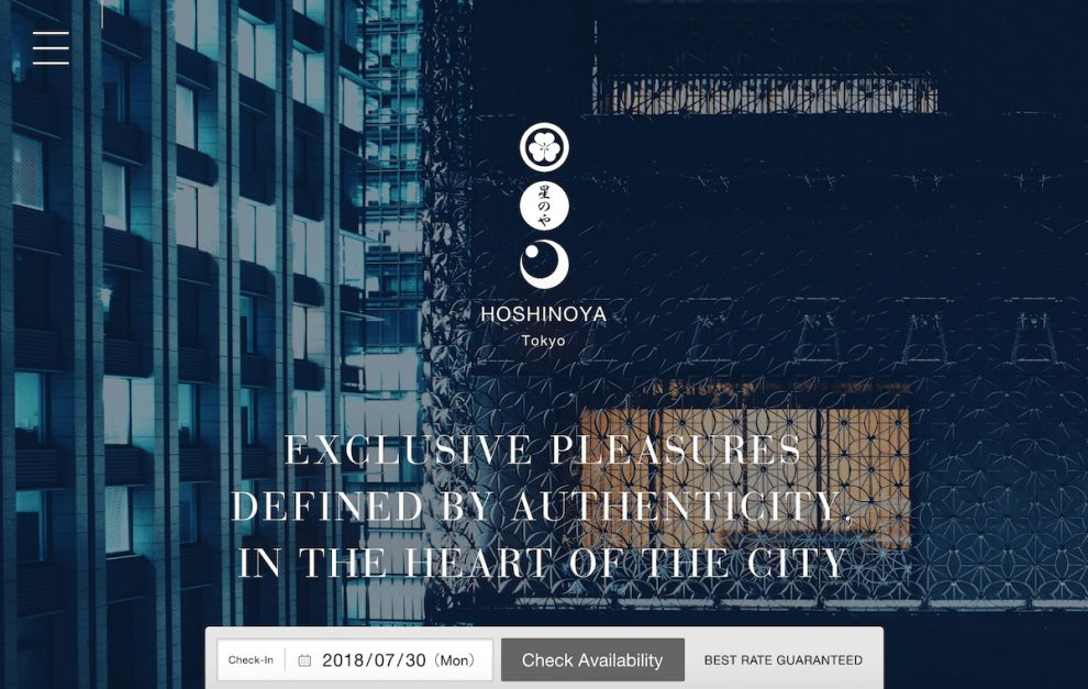 Hoshinoya Beautiful Website Design