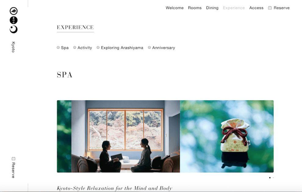 Hoshinoya Elegant Website Design