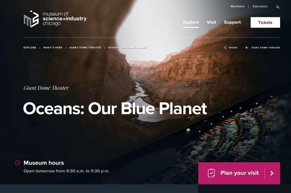 Museum Of Science Professional Website Design