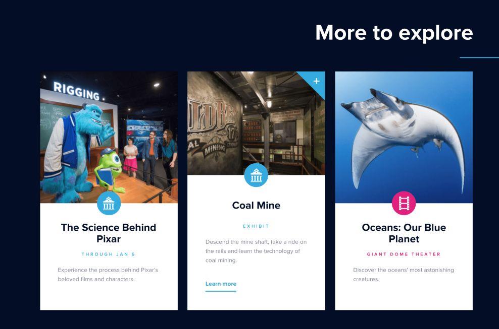 Museum Of Science Minimal Website Design