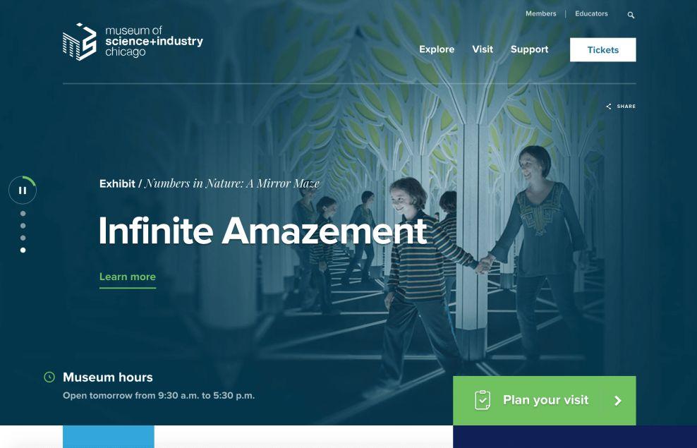 Museum Of Science Clean Website Design