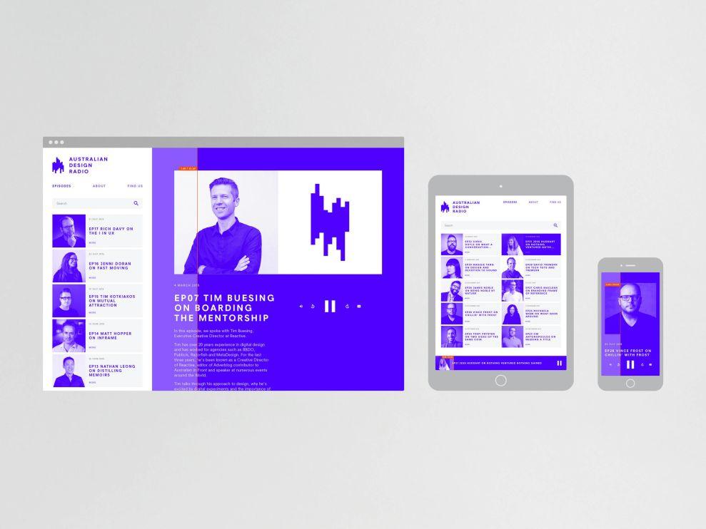 Australian Design Radio Platforms Logo Design