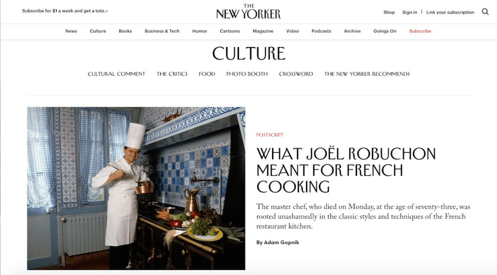 New Yorker Sophisticated Website Design