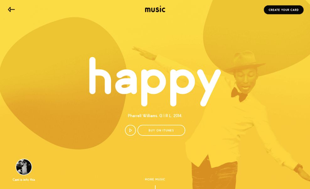 Pharrell Williams UX Website Design