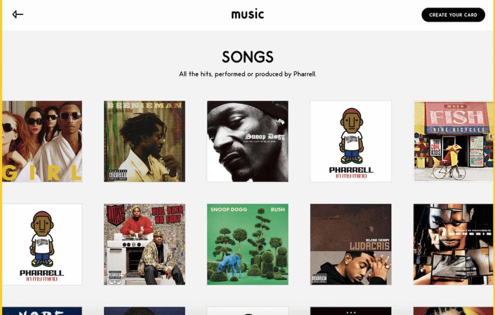 Pharrell Williams Cool Website Design