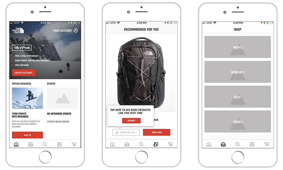 The North Face Clean App Design