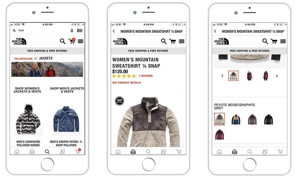The North Face Bold App Design