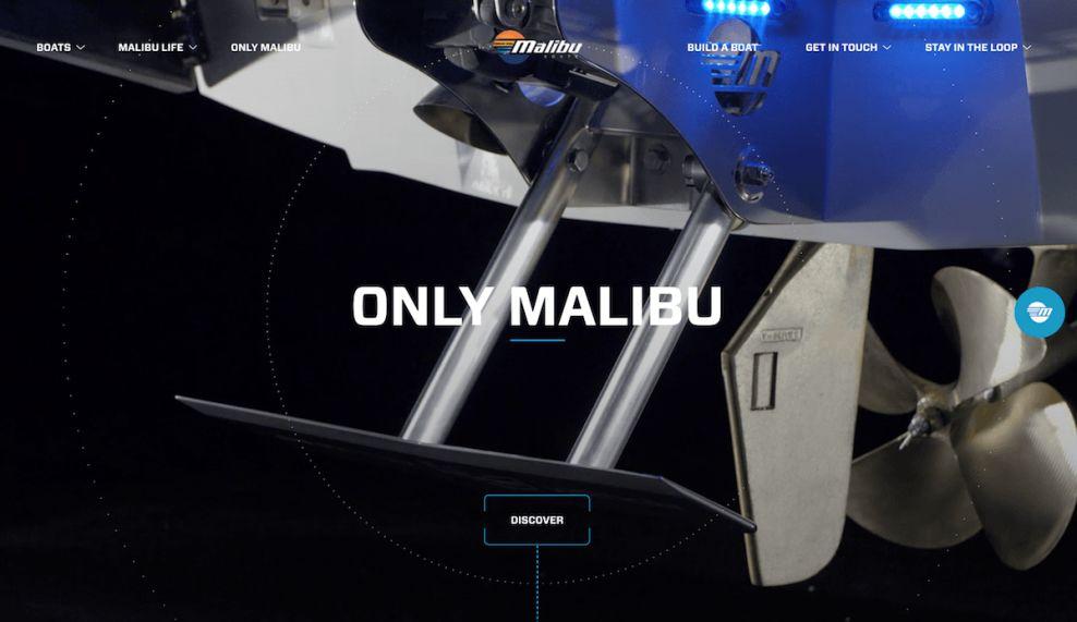 Malibu Boats Clever Website Design