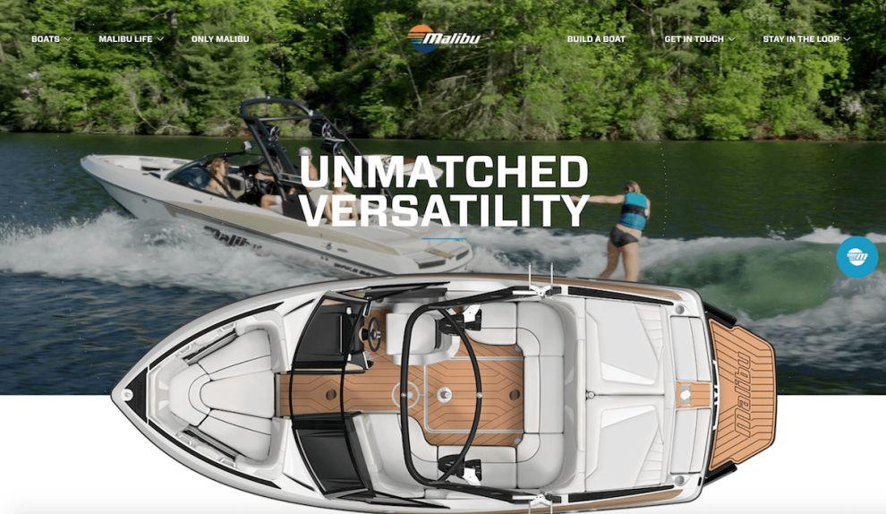 Malibu Boats Bold Website Design