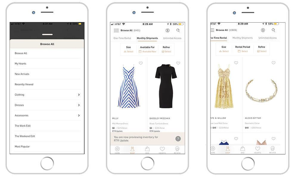 Rent The Runway Exciting App Design