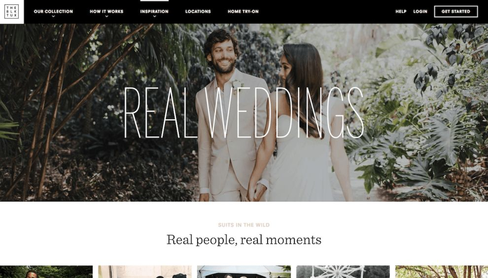 The Black Tux Simple Website Design
