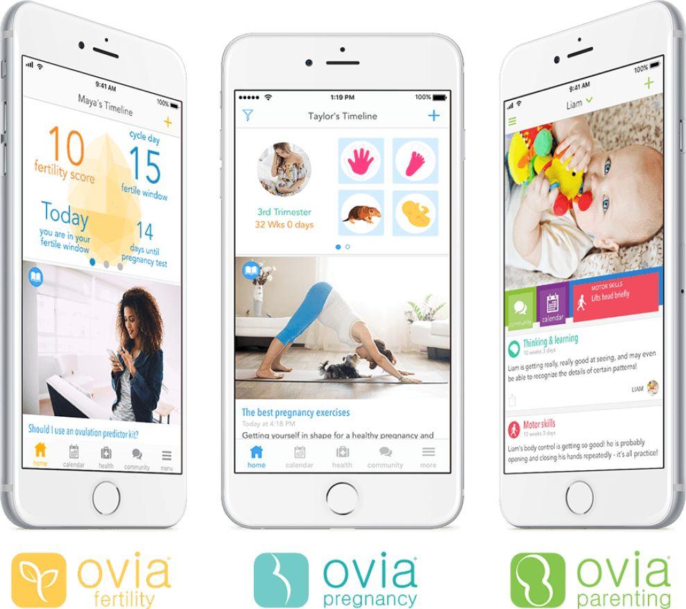 Ovia Health Apps App Design