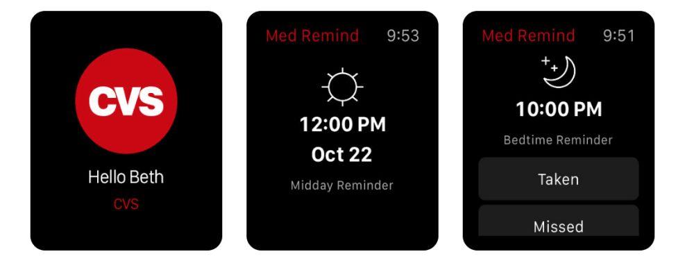CVS App Watch App Design