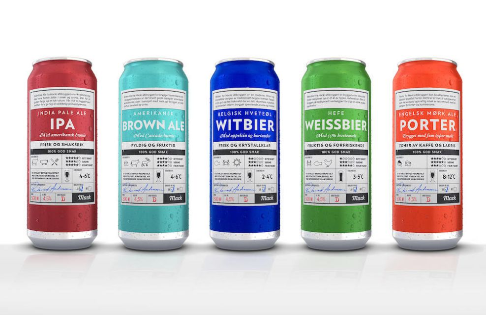 Mack Breweries Colorful Package Design